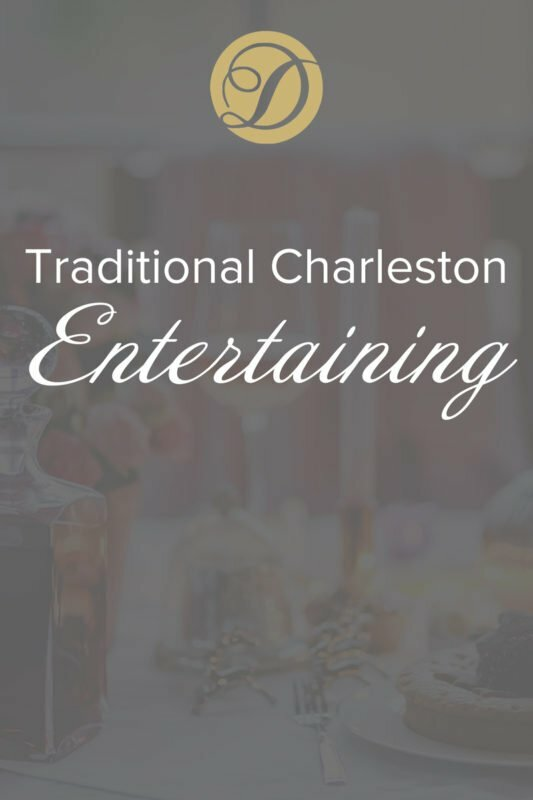 Traditional Charleston Entertaining