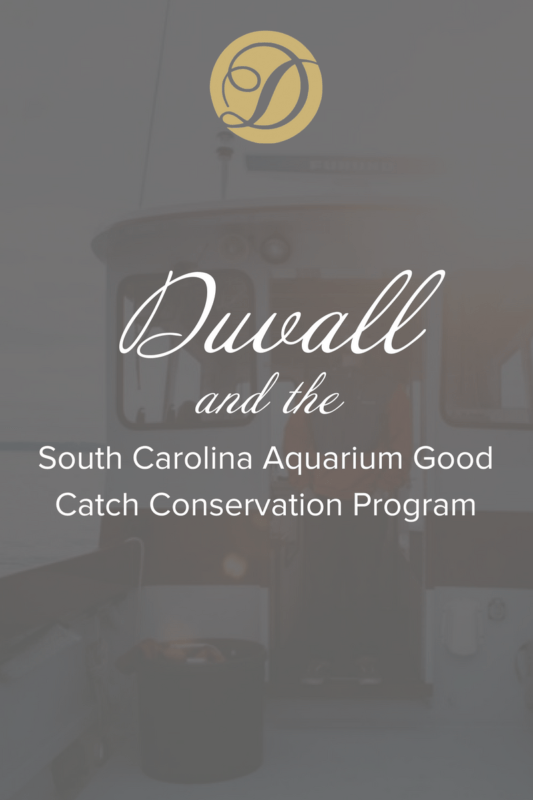 Duvall and the South Carolina Aquarium Good Catch Conservation Program