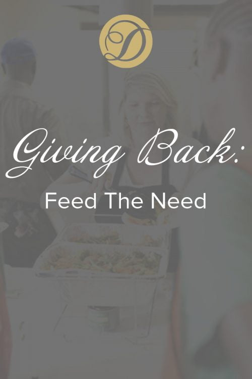 giving back feed the need duvall catering & events